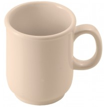 Winco MMU-8 Tan Bulbous Melamine Mug, 8 oz.