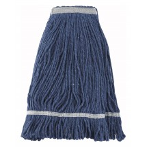 Winco MOP-24 Blue Yarn Mop Head Looped End 24 oz.