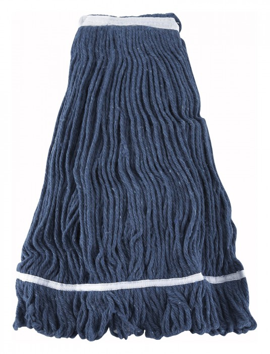 Winco MOP-32 Blue Yarn Mop Head with Looped End 32 oz..