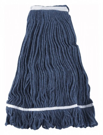 Winco Mop 32 Blue Yarn Mop Head With Looped End 32 Oz