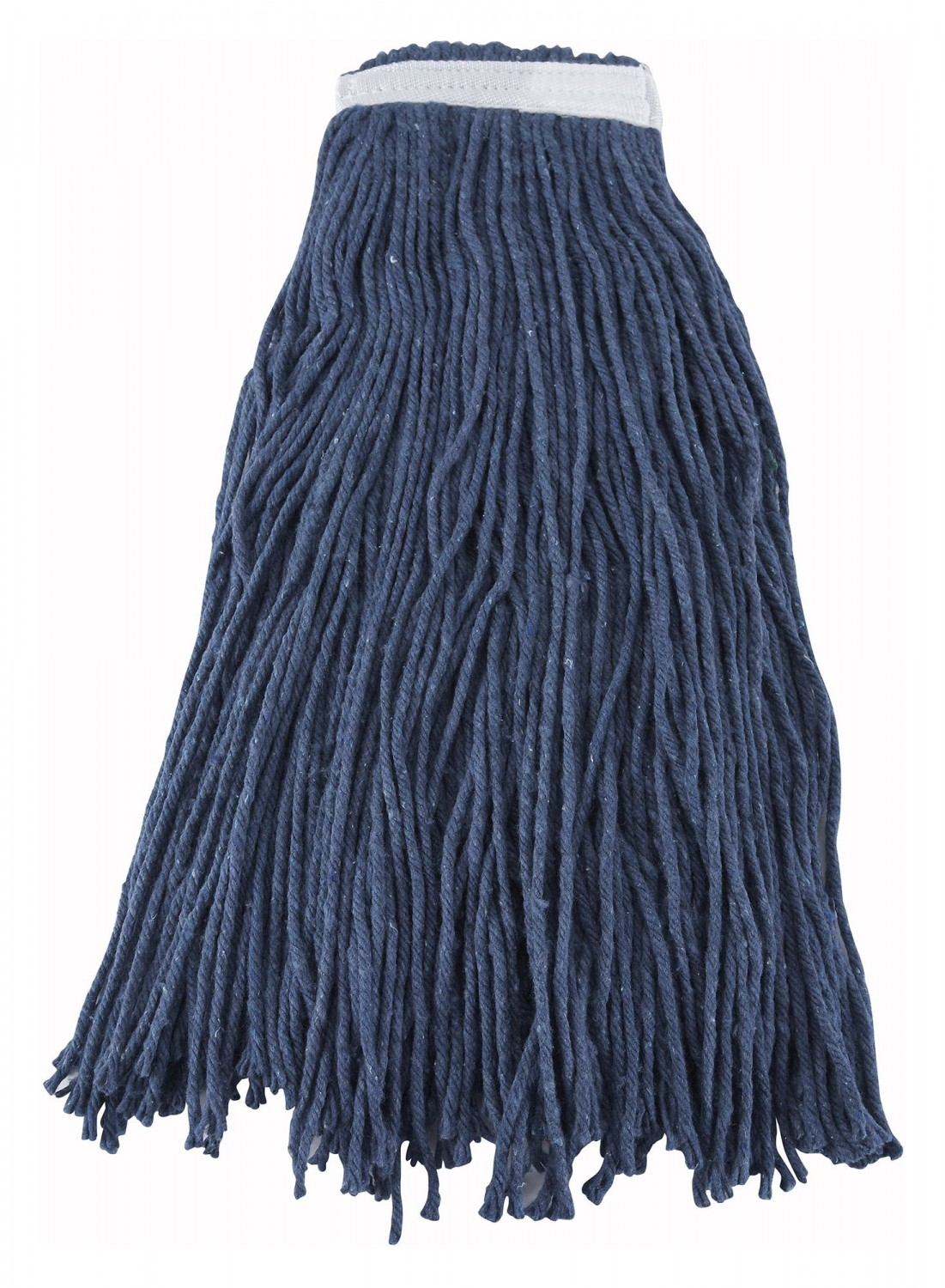 Winco MOP-32C Blue Wet Mop Head with Cut End 32 oz.