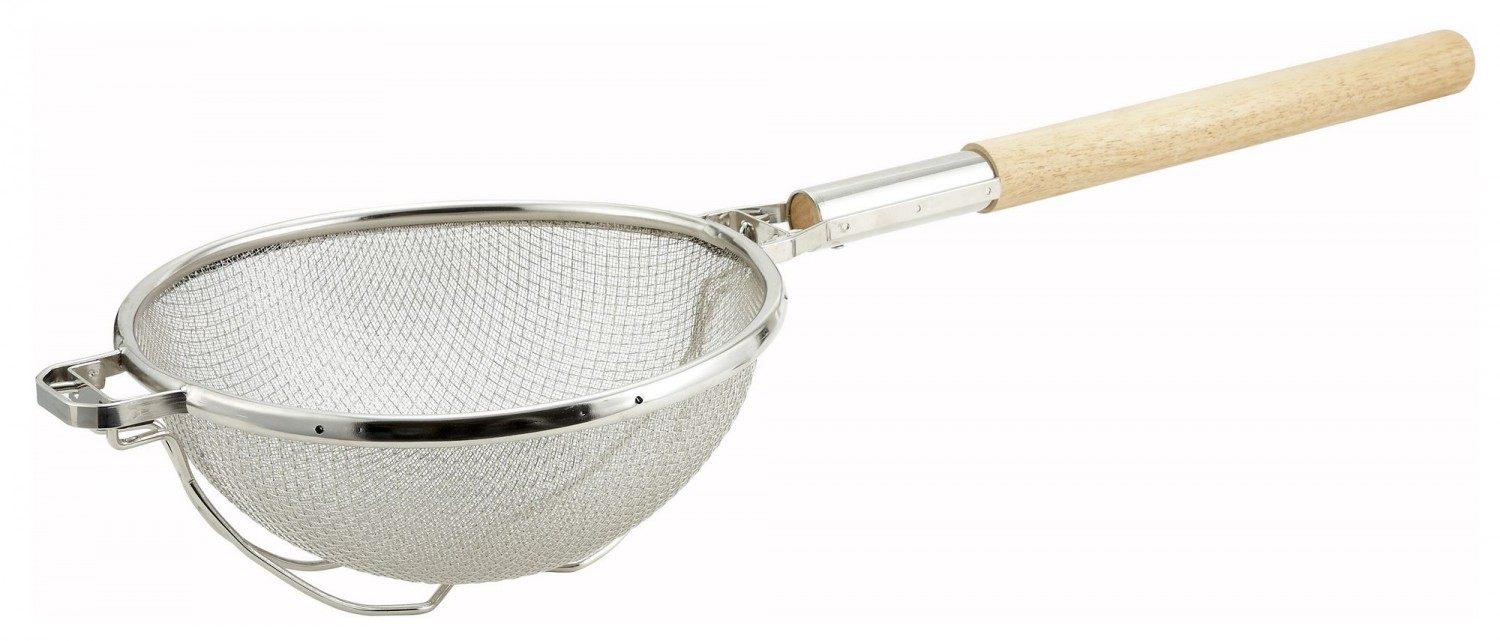 Winco MST-1010D Double Tinned Mesh Strainer 10""