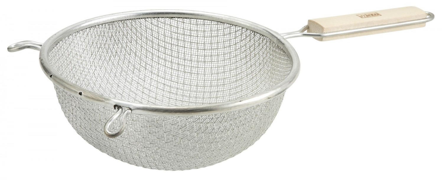 Winco MST-8D Medium Tin  Double Mesh Strainer 8""