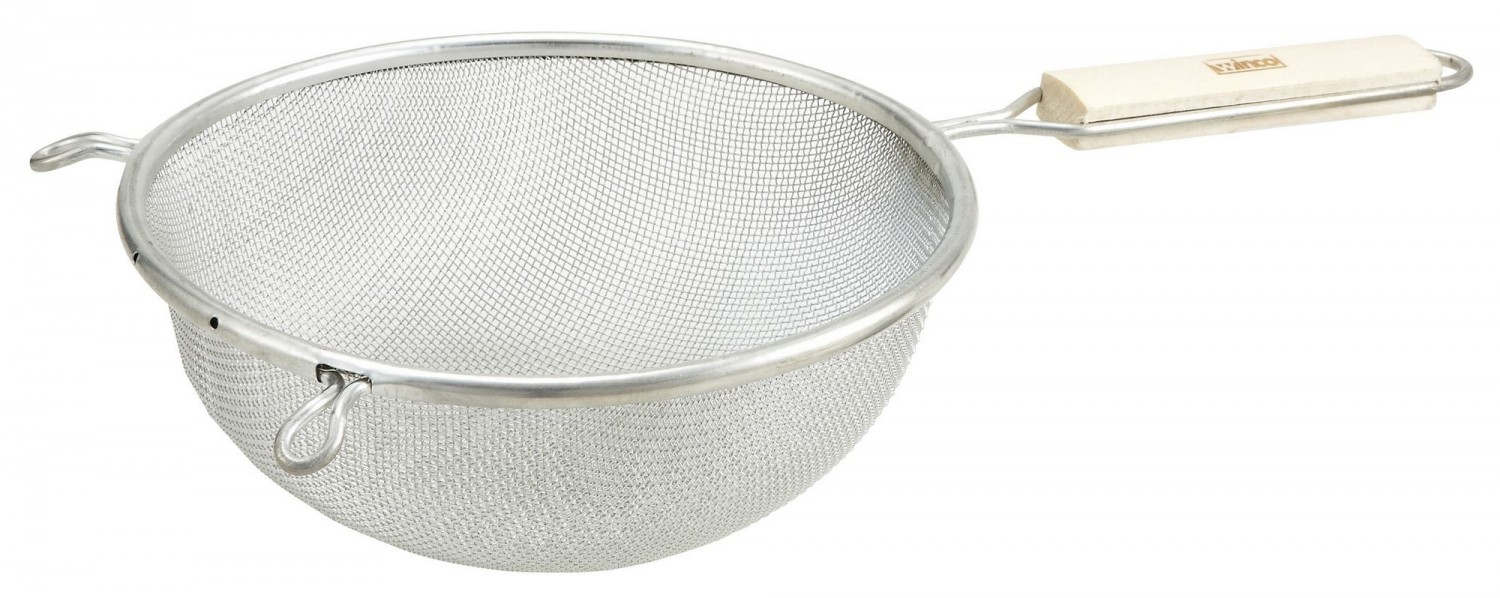 Winco MST-8S Medium Tin Single Mesh Strainer 8""