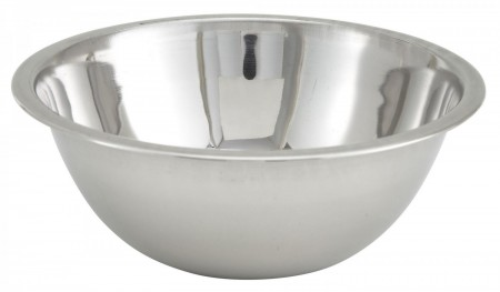 Winco MXB-300Q Stainless Steel Economy Mixing Bowl 3 Qt.