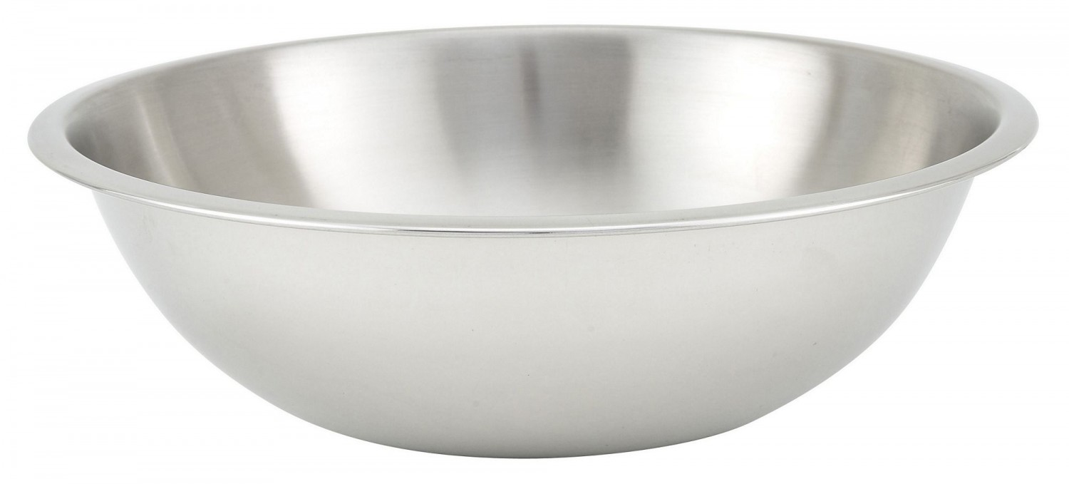 Winco MXHV-400 Heavy-Duty Stainless Steel Mixing Bowl 4 Qt.
