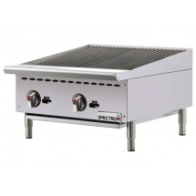 """Winco NGCB-24R Spectrum Gas Radiant Countertop Charbroiler 24"""""""