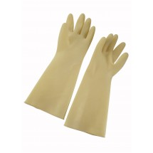 "Winco NLG-816 Ivory Natural Latex Gloves 8-1/2"" x 16"""