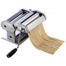 Winco NPM-7 Stainless Steel Pasta Maker with Detachable Cutter 7
