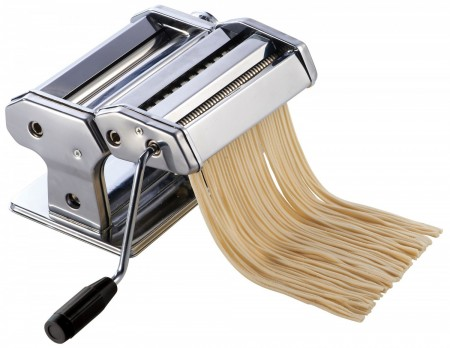 Winco NPM-7 Stainless Steel Pasta Maker with Detachable Cutter 7""