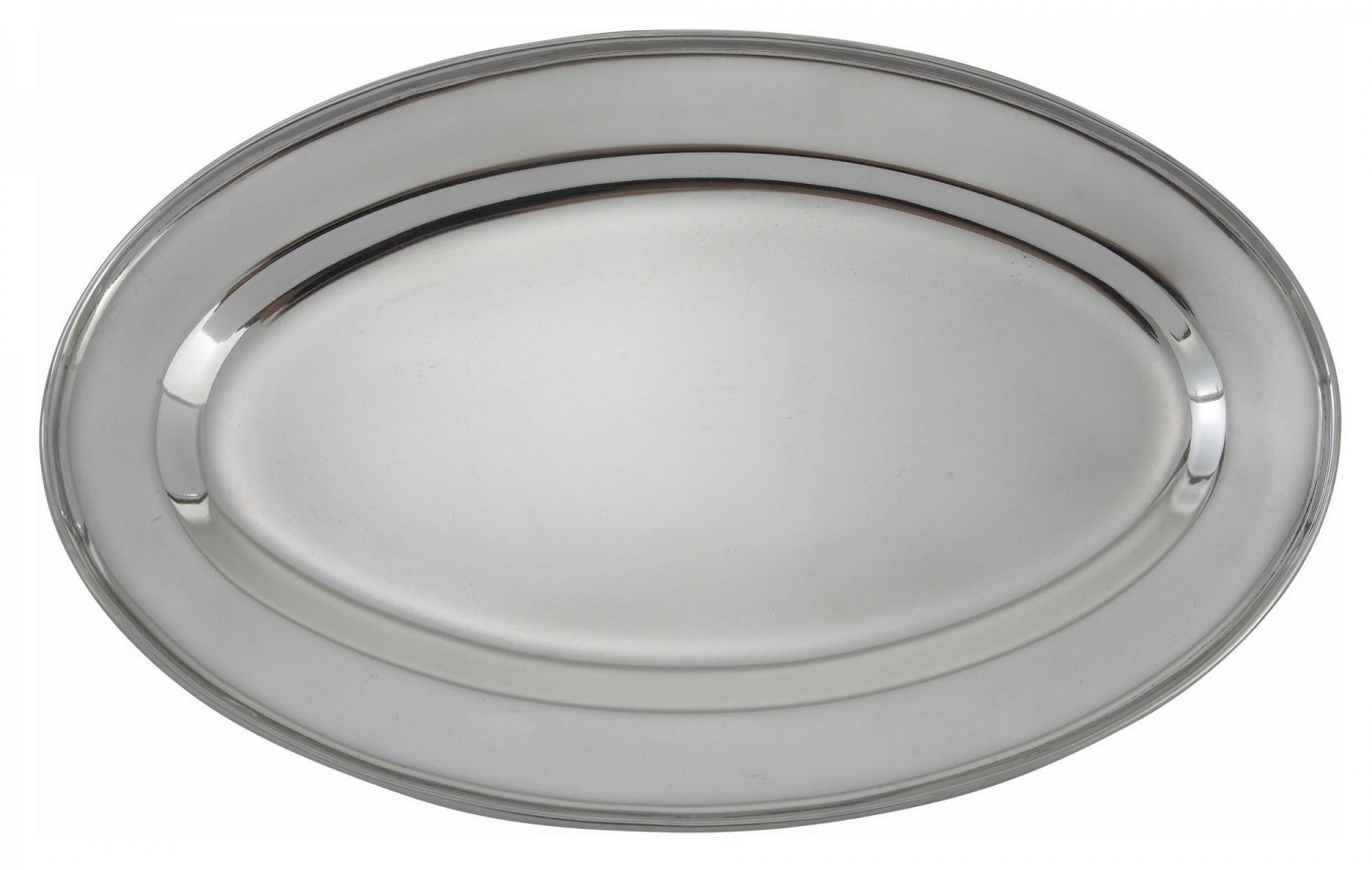 "Winco OPL-12 Oval Stainless Steel Platter 11-3/4"" x 7-7/8"""