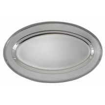"Winco OPL-14 Oval Stainless Steel Platter 13-5/8"" x 9-1/2&quot"
