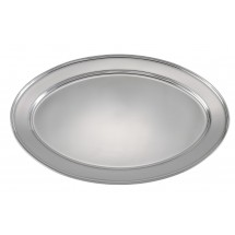 "Winco OPL-20 Oval Stainless Steel Platter 19-5/8"" x 13-1/2&quot ;"