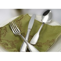 Winco Oxford 5-Piece Extra Heavy Weight Flatware Set - Service for 12