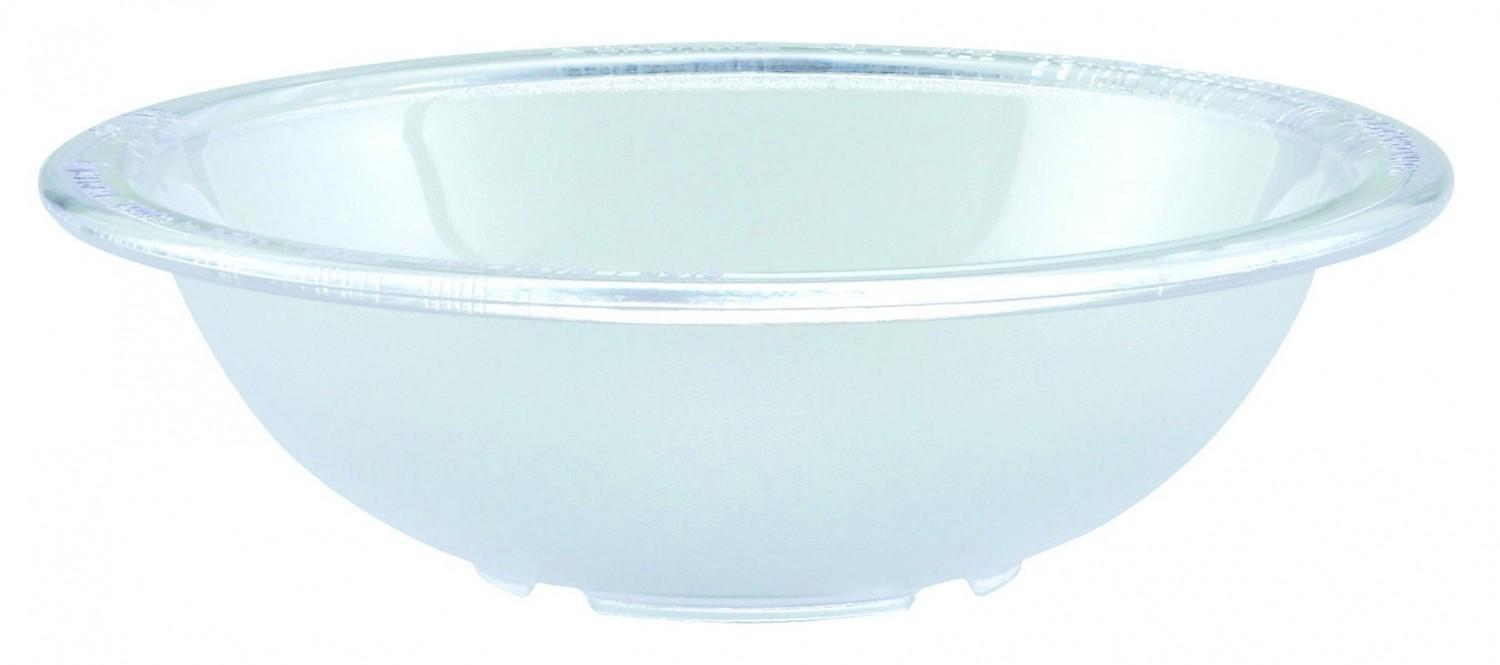 Winco PBB-8 Polycarbonate Pebbled Salad Bowl 8""