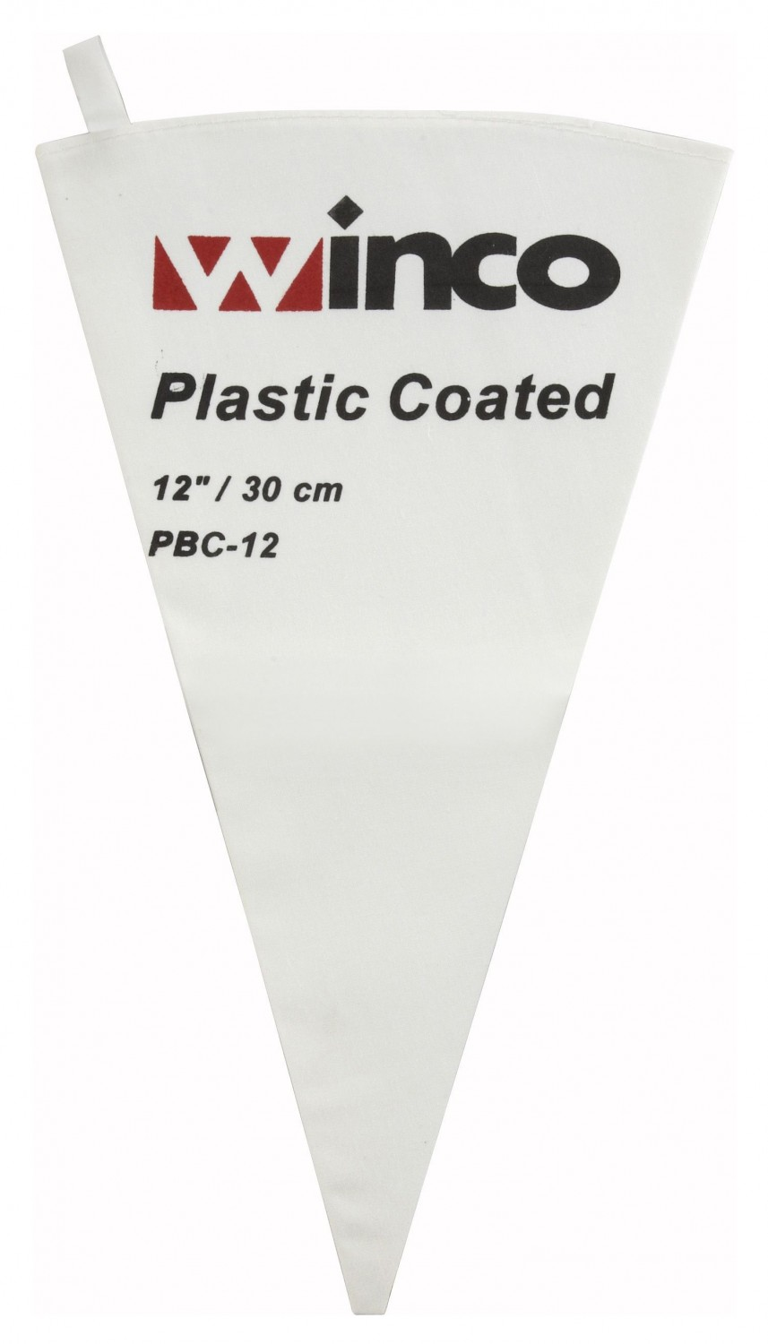 Winco PBC-12 Cotton Pastry Bag With Plastic Coating 12""