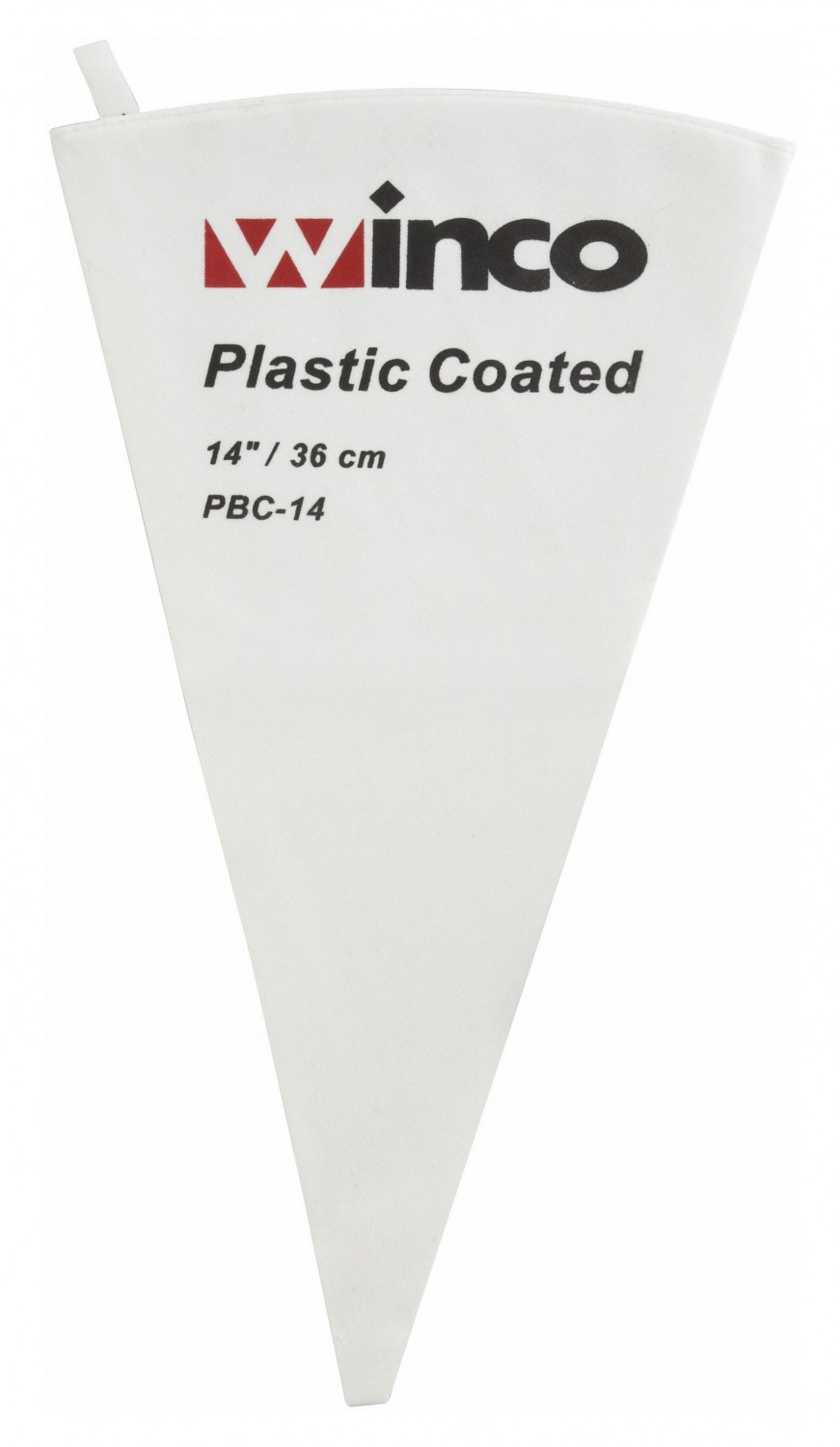 Winco PBC-14 Cotton Pastry Bag With Plastic Coating 14""