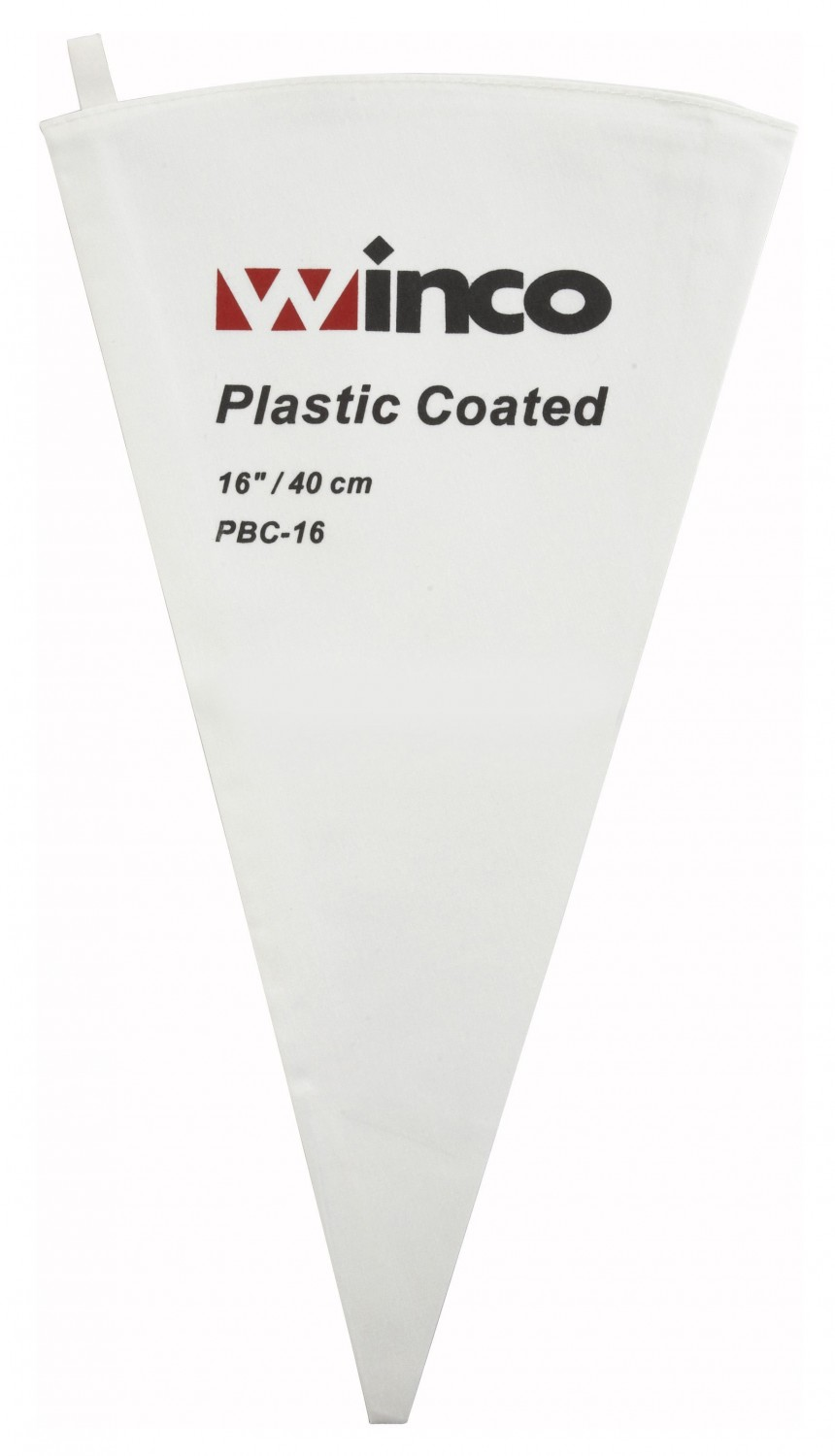 Winco PBC-16 Cotton Pastry Bag With Plastic Coating 16""