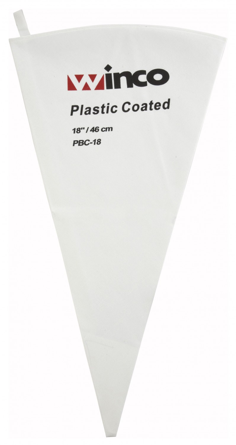 Winco PBC-18 Cotton Pastry Bag With Plastic Coating 18""