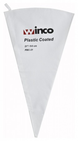 Winco PBC-21 Cotton Pastry Bag With Plastic Coating 21""
