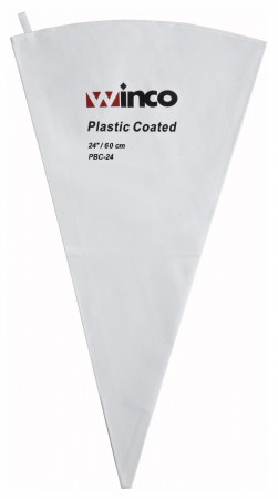 Winco PBC-24 Cotton Pastry Bag With Plastic Coating 24""