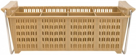 Winco PCB-8 8-Compartment Cutlery Dishwasher Basket with Handles