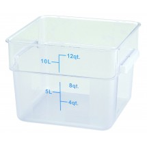 Winco PCSC-12C Square Clear Storage Container 12 Qt.