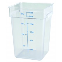 Winco PCSC-22C Clear Square Storage Container 22 Qt.