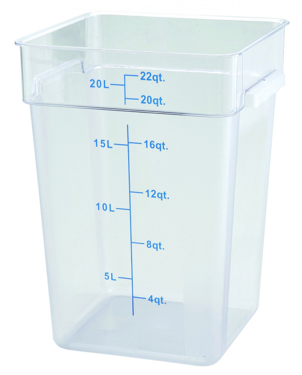 Winco PCSC 22C Clear Square Storage Container 22 Qt.