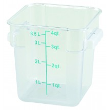 Winco PCSC-4C Square Clear 4 Qt. Storage Container