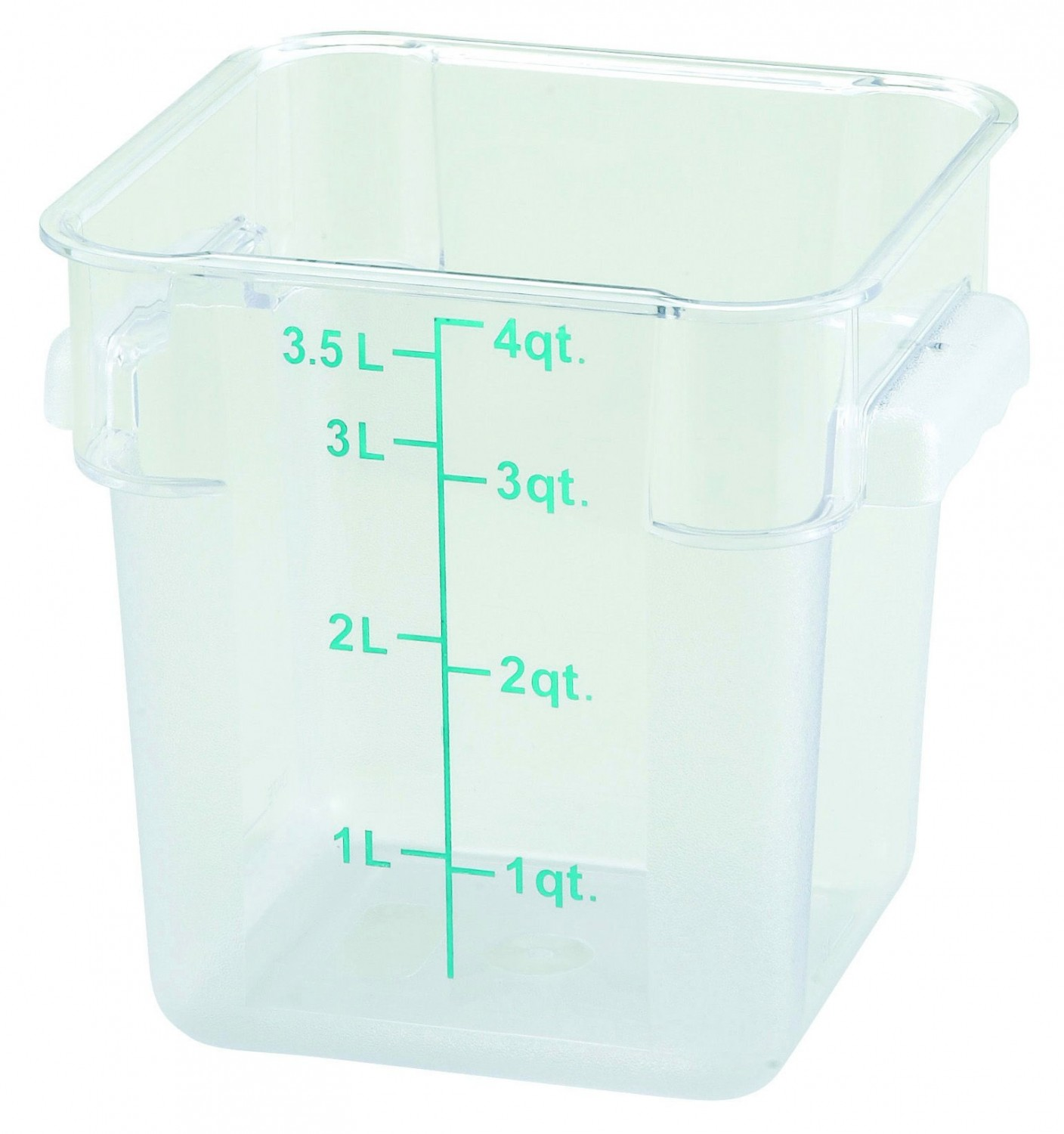 Winco PCSC-4C Square Clear Storage Container 4 Qt.