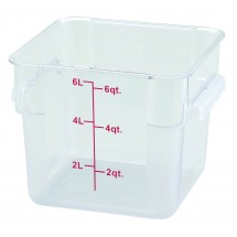 Winco PCSC-6C Square Clear Storage Container 6 Qt.