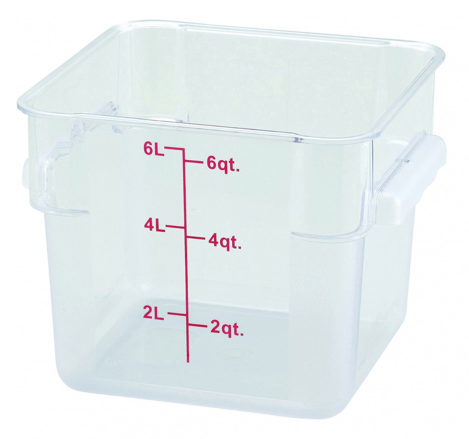 Winco PCSC-6C Clear Square Storage Container 6 Qt.