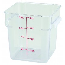 Winco-PCSC-8C-Clear-Square-Storage-Container-8-Qt-