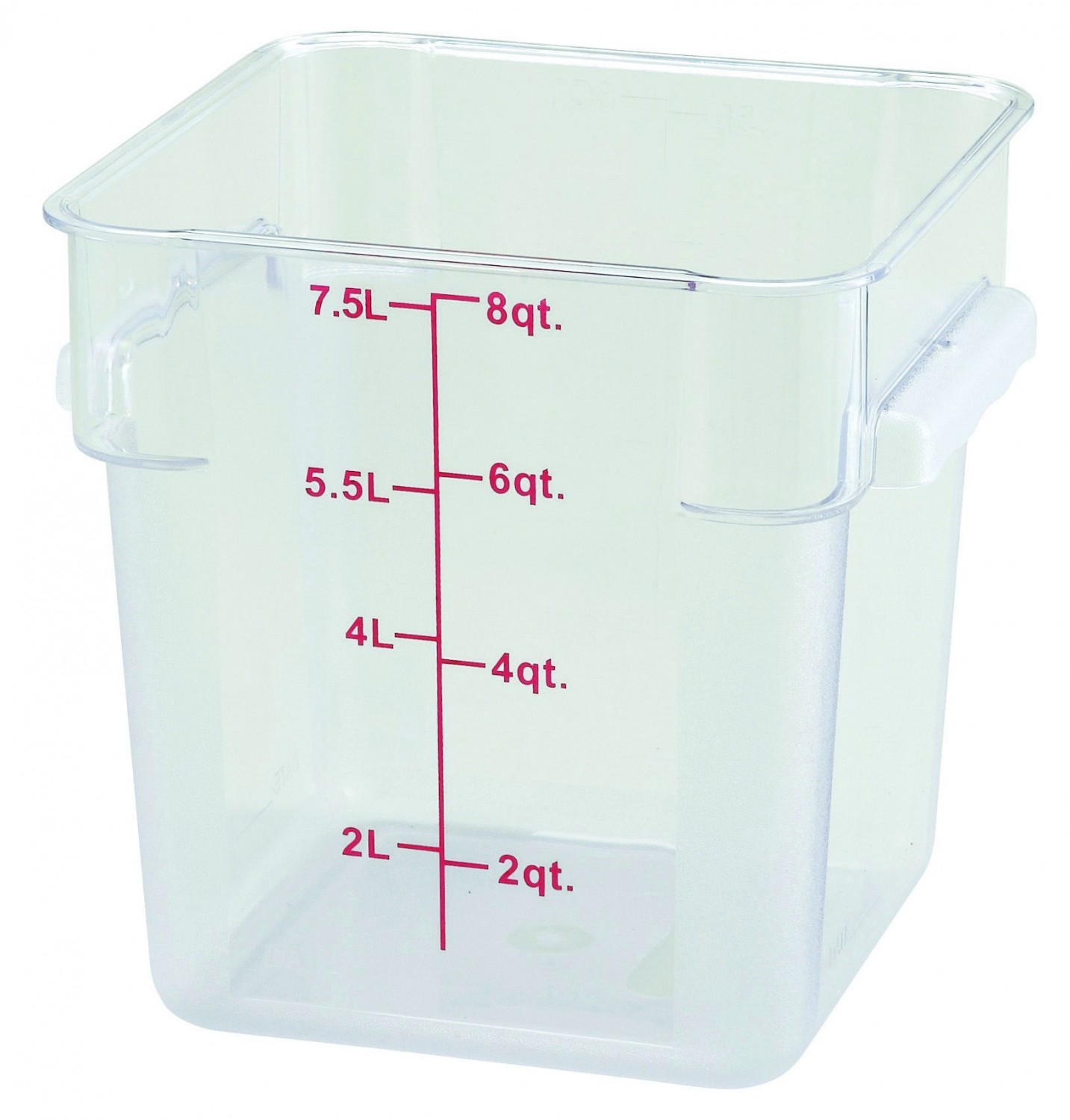 Winco PCSC-8C Clear Square Storage Container 8 Qt.