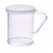 Winco PDG-10CL Polycarbonate Dredge with Clear Snap-On Lid, Large Holes 10 oz.