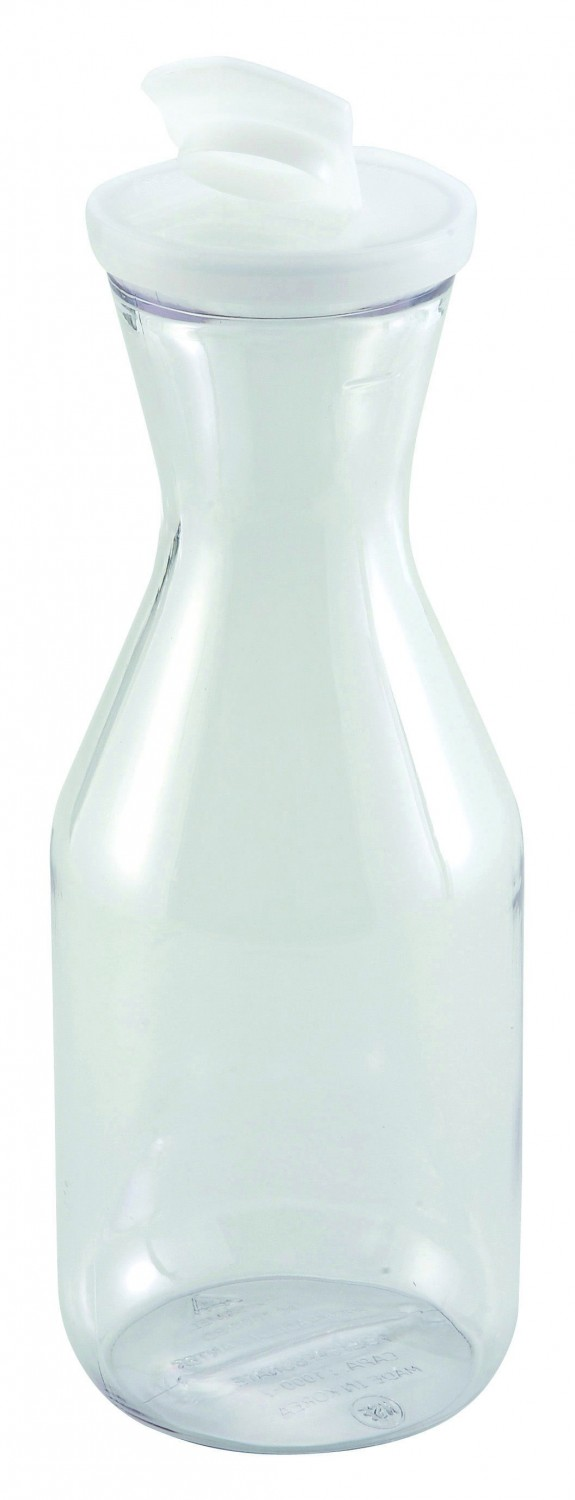 Winco PDT-10 Polycarbonate Decanter With Lid, 1 Liter