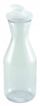 Winco PDT-15 Polycarbonate Decanter with Lid 1.5 Liter