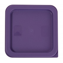 Winco PECC-24P Purple Allergen-Free Square Cover for 2 and 4 Qt. Containers