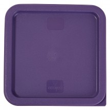 Winco PECC-68P Purple Allergen-Free Square Cover for 6 & 8 Qt. Containers