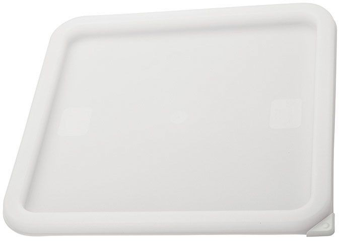 Winco PECC-L White Container Cover, Fits 12, 18 and 22 Qt. Square Storage Containers