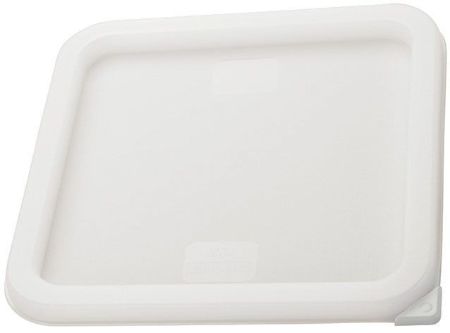Winco PECC-M White Container Cover, Fits 6 and 8 Qt. Square Storage Containers