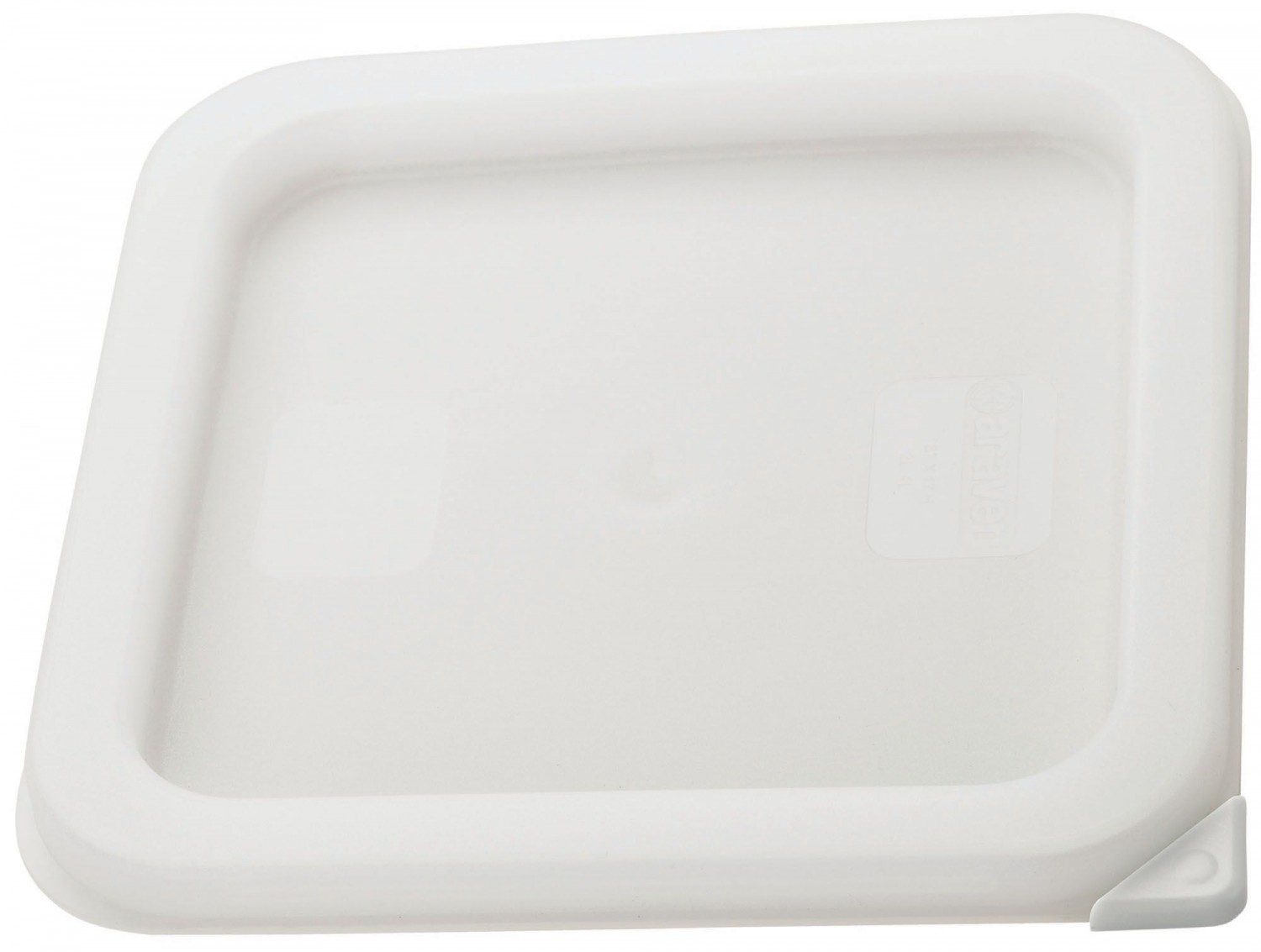 Winco PECC-S White Container Cover, Fits 2 and 4 Qt. Square Storage Containers