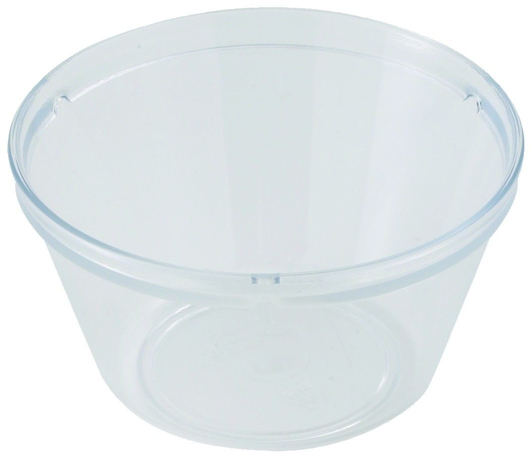Winco PFD-8 Clear Polycarbonate Fruit Bowl 4""