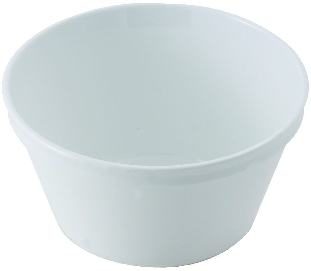 Winco PFD-8W White Polycarbonate Fruit Bowl 4""