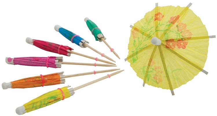 Winco PK-P4 Umbrella Picks 144-Piece Bag