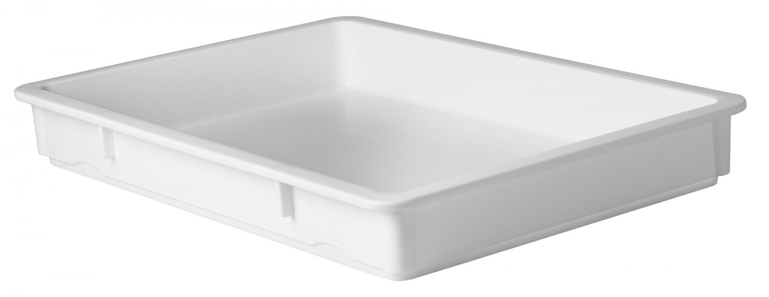 "Winco PL-3 White 3"" Pizza Dough Box"
