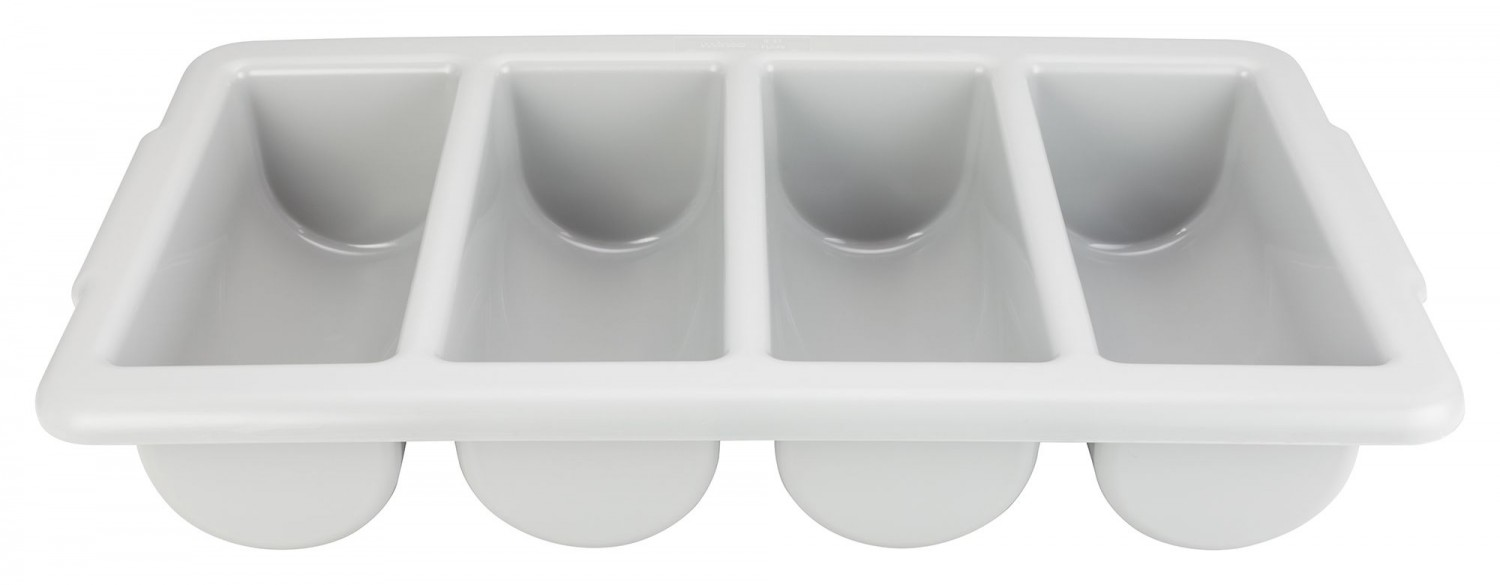 Winco PL-4B 4 Compartment Cutlery Bin