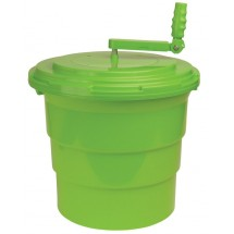 Winco PLSP-5G Salad Spinner, Green 5 Gallon
