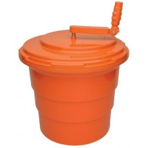 Winco PLSP-5O Salad Spinner, Orange 5 Gallon